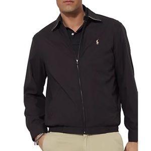 POLO by RALPH LAUREN Men's Black Zip-front Jacket